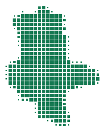 Map of Saxony-Anhalt Standard-Bild - 127087570