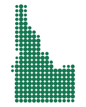 Map of Idaho Иллюстрация