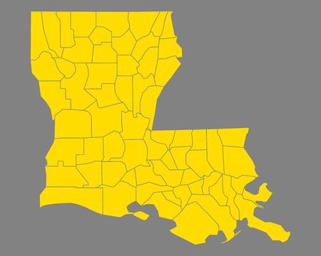 Carte de la Louisiane Vecteurs