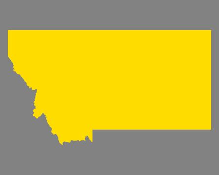 Map of Montana 일러스트