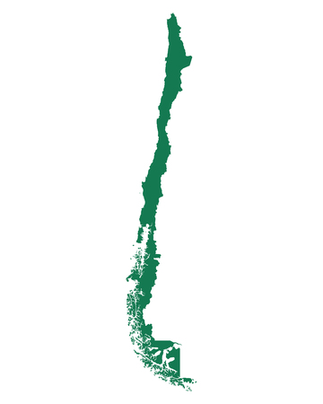 Map of Chile Illustration