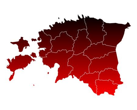 Map of Estonia  イラスト・ベクター素材