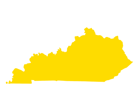 Map of Kentucky Stock Vector - 114389805