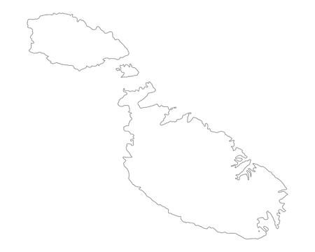 Map of Malta 스톡 콘텐츠 - 126588580