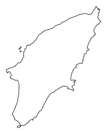 Karte von Rhodos Vektorgrafik