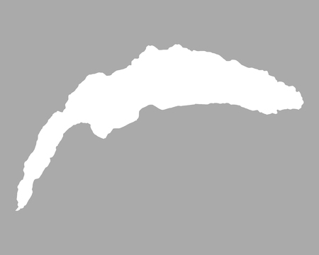 Map of Lake Geneva Illustration