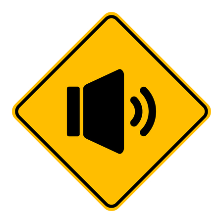 Speaker and road sign  イラスト・ベクター素材