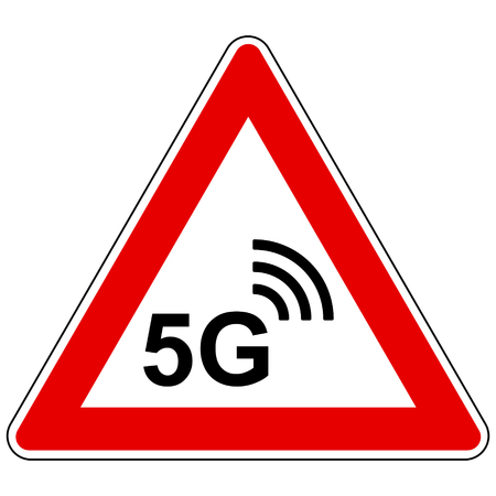 5G wireless and attention sign Stock Vector - 124419613