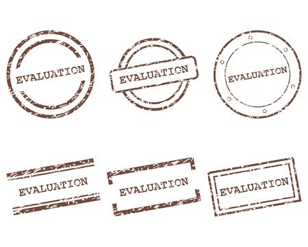 Sellos de evaluación Ilustración de vector