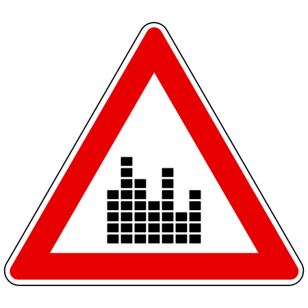 Equalizer and attention sign Illusztráció