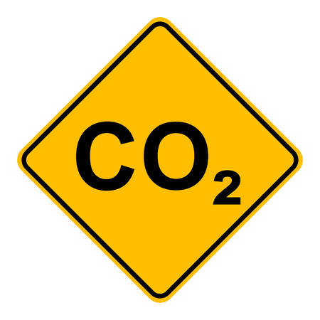 CO2  and road sign