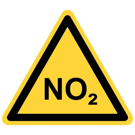 NO2  and danger sign