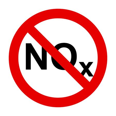 NOx  and prohibition sign