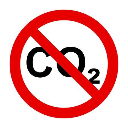CO2  and prohibition sign Foto de archivo - 128794934