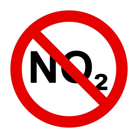 NO2  and prohibition sign Foto de archivo - 128795079