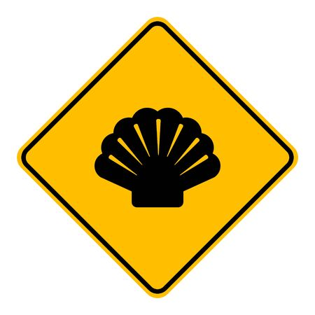 Shell and road sign