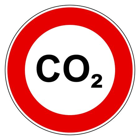 CO2  and prohibition sign Foto de archivo - 128795245