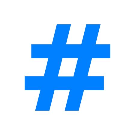 Hashtag and background