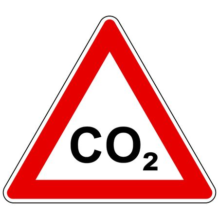CO2  and attention sign