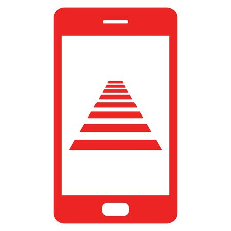 Cross walk and smartphone Illustration