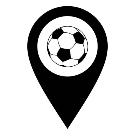 Soccer ball and location pin 일러스트