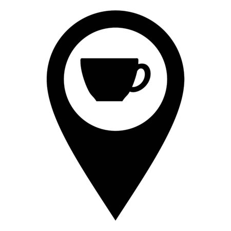 Cup and location pin 일러스트