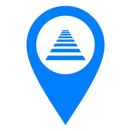 Cross walk and location pin
