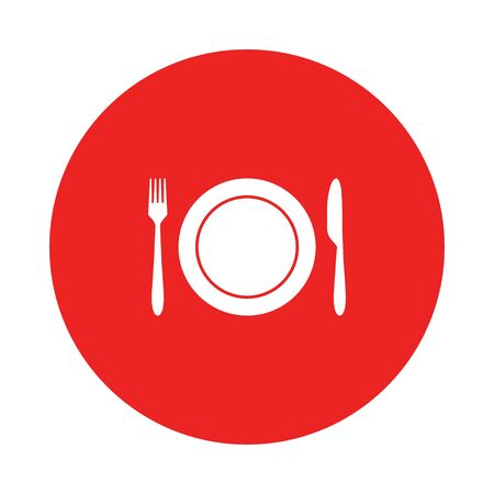 Cutlery and circle Vector Illustratie