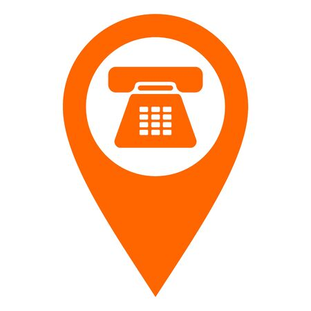Phone and location pin