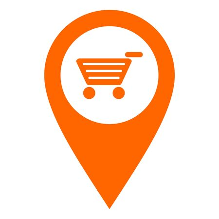 Shopping cart and location pin