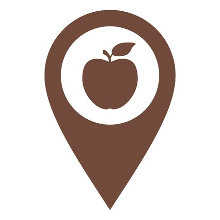 Apple and location pin