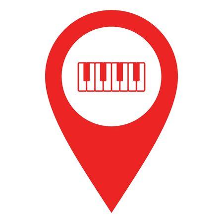 Keyboard and location pin 일러스트