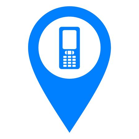 Mobile phone and location pin