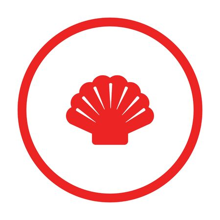 Shell and circle  イラスト・ベクター素材