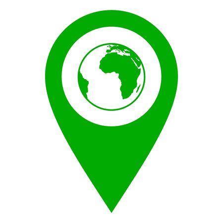 Globe and location pin
