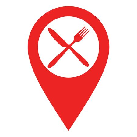 Cutlery and location pin 일러스트