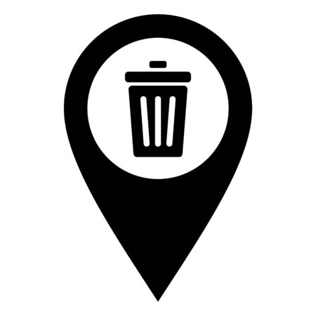 Waste bin and location pin
