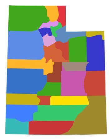 Map of Utah 版權商用圖片 - 130789895