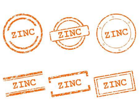 Zinc stamps Stock Illustratie