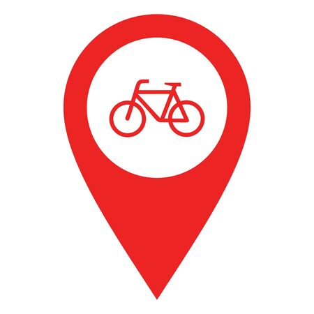 Bicycle and location pin