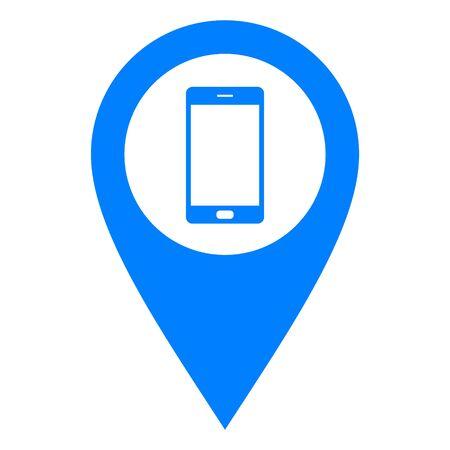 Smartphone and location pin Çizim