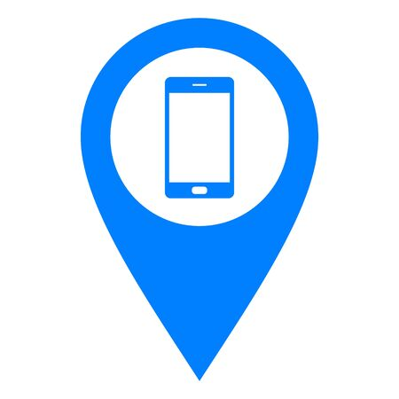 Smartphone and location pin Illustration