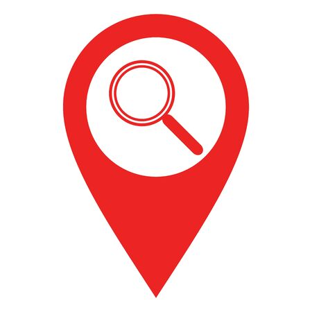 Magnifier and location pin