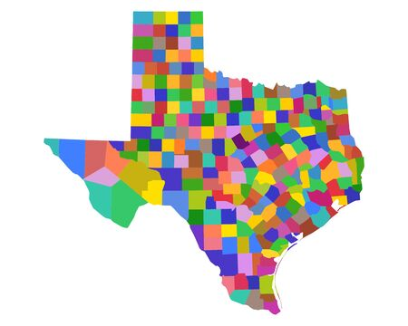 Map of Texas Illusztráció