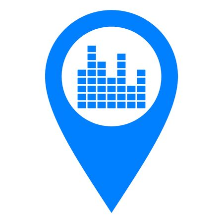 Equalizer and location pin Stock Illustratie