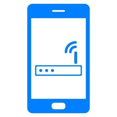 Router and smartphone Foto de archivo - 130790053