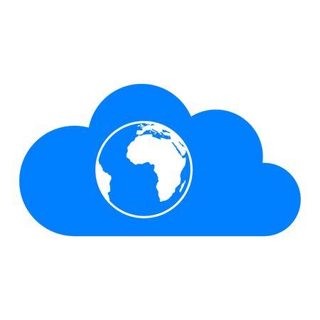 Globe and cloud