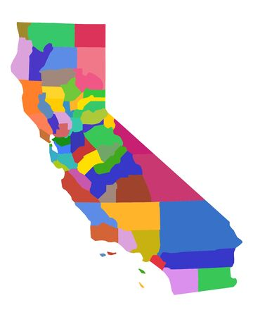 Map of California 일러스트