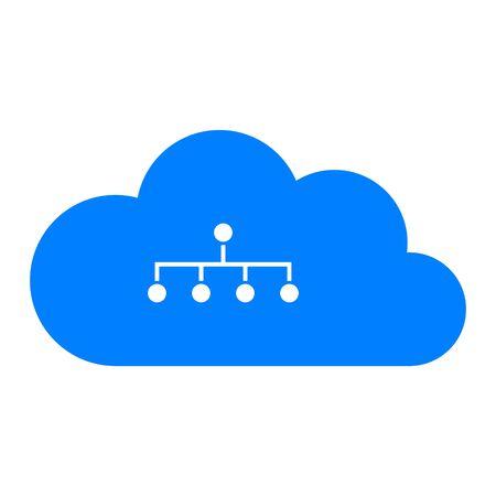 Network and cloud Illusztráció