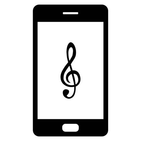 Violin clef and smartphone